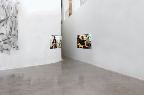 Installation view of Extended Play: TeWhenuaCentroChapineroCorona at the Queens Museum