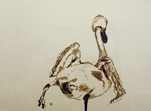 Naked Swan I – V, 2006 Oil and enamel on canvas.